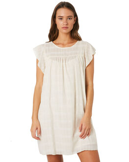 CREAM TEXTURE WOMENS CLOTHING SAINT HELENA DRESSES - SH18SU933CRM