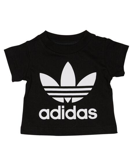 BLACK WHITE KIDS BABY ADIDAS CLOTHING - DV2829BLKWT
