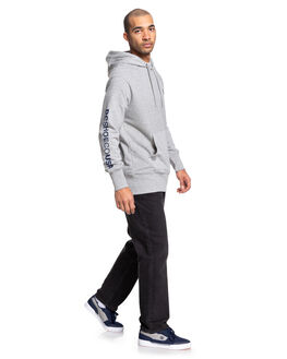 GREY HEATHER MENS CLOTHING DC SHOES JUMPERS - EDYFT03462-KNFH