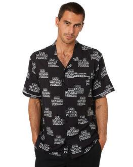 BLACK MENS CLOTHING HUF SHIRTS - BU00091-BLK