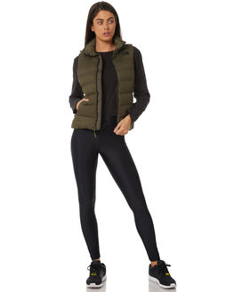 TAUPE GREEN WOMENS CLOTHING THE NORTH FACE JACKETS - NF0A33PA21LTAUPG