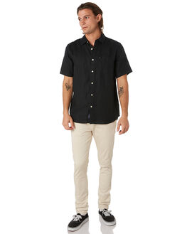 BLACK MENS CLOTHING ACADEMY BRAND SHIRTS - BA880BLK