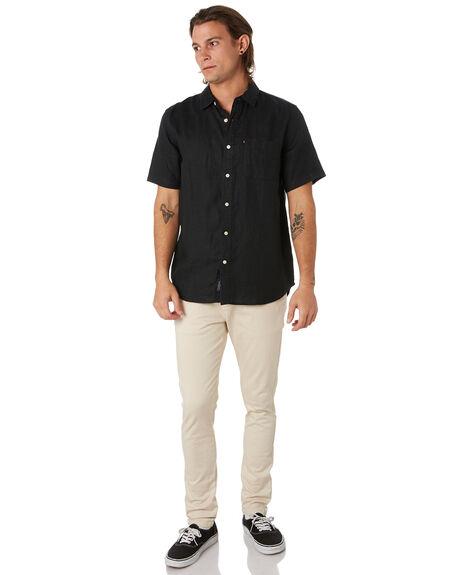 BLACK MENS CLOTHING ACADEMY BRAND SHIRTS - BA880BLK