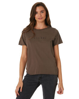 MOSS GREY WOMENS CLOTHING THRILLS TEES - WTW9-101GMOSG