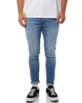 REBEL BLUE MENS CLOTHING A.BRAND JEANS - 810511128