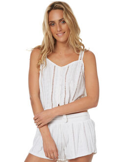 WHITE WOMENS CLOTHING RIP CURL FASHION TOPS - GSHZS31000