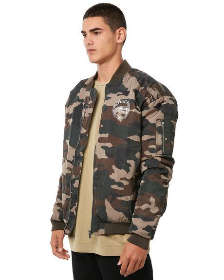 CAMO MENS CLOTHING STUSSY JACKETS - ST085505CAMO