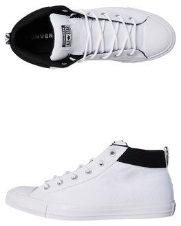WHITE BLACK MENS FOOTWEAR CONVERSE SNEAKERS - 160485WHI