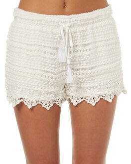 WHITE OUTLET WOMENS SWELL SHORTS - S8171236WHT