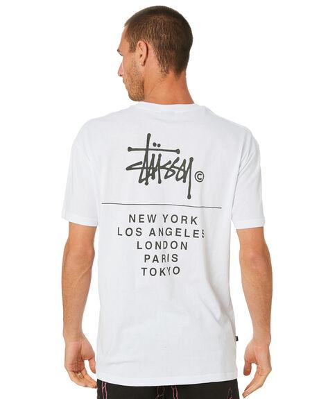 WHITE MENS CLOTHING STUSSY TEES - ST002013WHITE