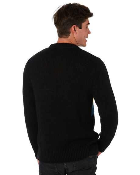 BLACK MENS CLOTHING NUDIE JEANS CO KNITS + CARDIGANS - 150416B01