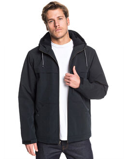 BLACK MENS CLOTHING QUIKSILVER JACKETS - EQYJK03513-KVJ0