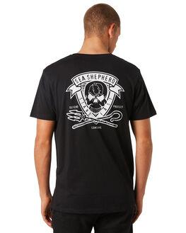 BLACK MENS CLOTHING SEA SHEPHERD TEES - SSA856ABLK