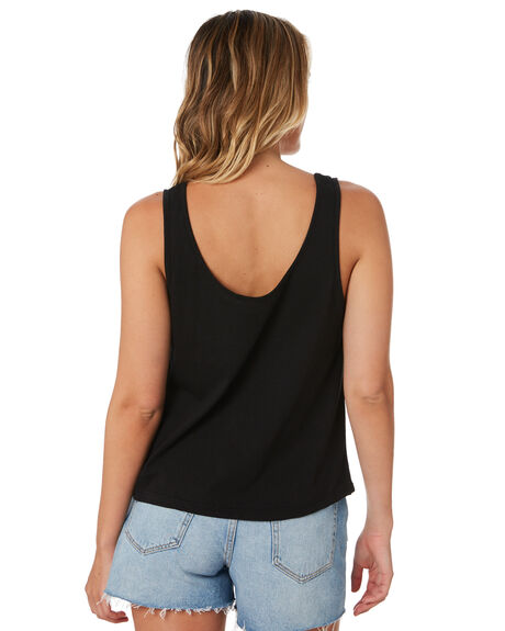 BLACK WOMENS CLOTHING RIP CURL SINGLETS - GTEIA90090