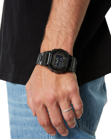 FULL BLACK NEGATIVE MENS ACCESSORIES G SHOCK WATCHES - GMW-B5000GD-1DFBLK