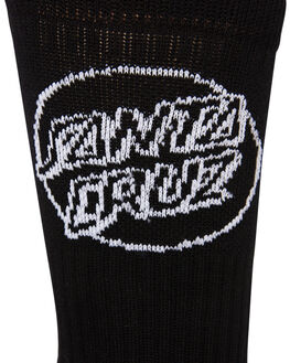 BLACK MENS CLOTHING SANTA CRUZ SOCKS + UNDERWEAR - SC-MZNC101BLK
