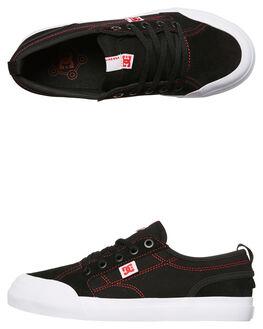 BLACK RED WHITE KIDS BOYS DC SHOES SKATE SHOES - ADBS300290XKRW