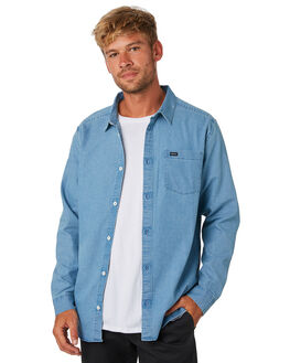 DENIM MENS CLOTHING RVCA SHIRTS - R393204DNM