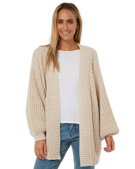 OATMEAL WOMENS CLOTHING THE HIDDEN WAY KNITS + CARDIGANS - H8182147OMEAL