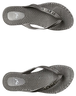 SILVER KIDS GIRLS RUSTY THONGS - FOG0001SIL