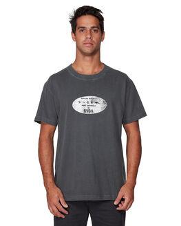 WASHED BLACK MENS CLOTHING RVCA TEES - RV-R107068-WBK