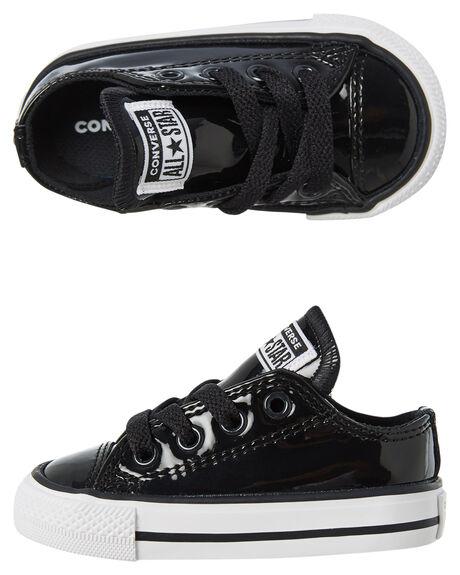 BLACK KIDS GIRLS CONVERSE FOOTWEAR - 762322CBLK