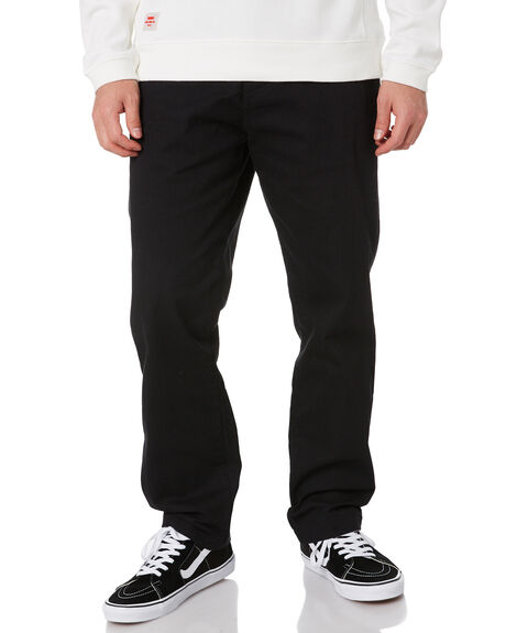 BLACK MENS CLOTHING GLOBE PANTS - GB02006000BLK