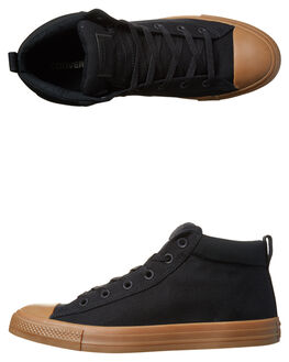 BLACK DARK HONEY MENS FOOTWEAR CONVERSE SNEAKERS - 155708BLK