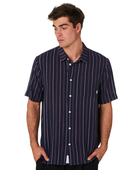NAVY MAROON MENS CLOTHING RPM SHIRTS - 9PMT10ANVYMR