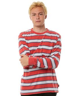 RED MENS CLOTHING BRIXTON TEES - 02259RED
