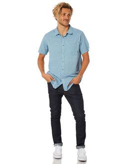 POWDER BLUE MENS CLOTHING BILLABONG SHIRTS - 9585201PWDBL