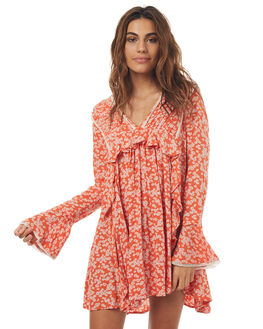 RED COMBO WOMENS CLOTHING FREE PEOPLE DRESSES - OB6582876004
