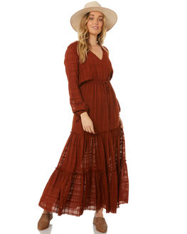 BALIWOOD BROWN WOMENS CLOTHING RUE STIIC DRESSES - WS18-13-BW-XBALI