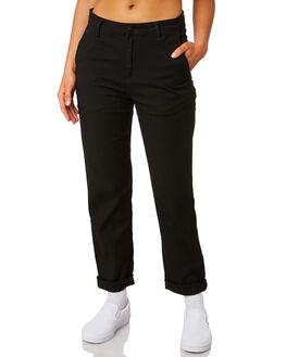 BLACK RINSED WOMENS CLOTHING CARHARTT PANTS - I0239538902