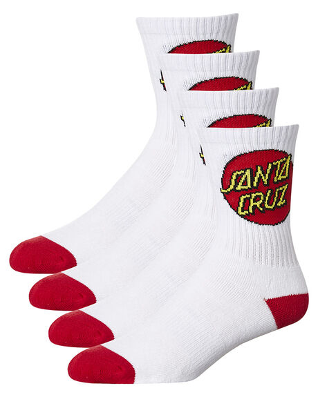 WHITE KIDS BOYS SANTA CRUZ SOCKS + UNDERWEAR - SC-YZNC011WHT