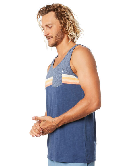 NAVY MENS CLOTHING RIP CURL SINGLETS - CTEOW90049