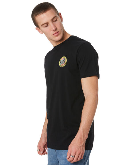 BLACK MENS CLOTHING SANTA CRUZ TEES - SC-MTD9344BLK