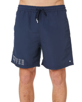 NAVY MENS CLOTHING HUFFER BOARDSHORTS - HMSO10STPL-521NVY