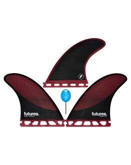 BURGUNDY BLACK BOARDSPORTS SURF FUTURE FINS FINS - 1177-161-00BURBK