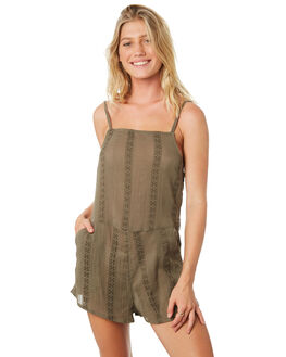 BURNT OLIVE WOMENS CLOTHING O'NEILL PLAYSUITS + OVERALLS - 48218026890