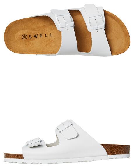WHITE WOMENS FOOTWEAR SWELL FASHION SANDALS - 100010LWHITE