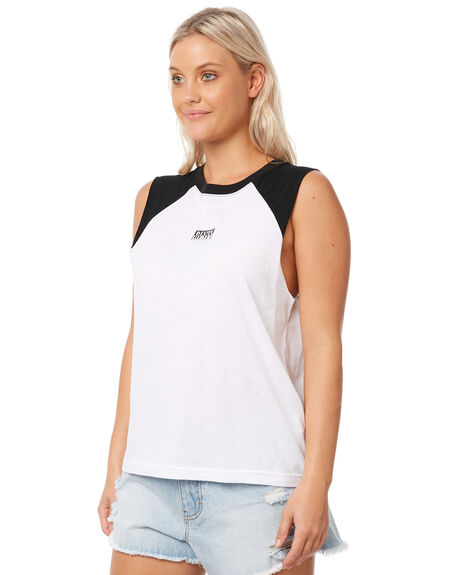 WHITE WOMENS CLOTHING RUSTY SINGLETS - MSL0178WHT