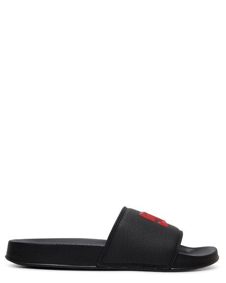 BLACK/RED MENS FOOTWEAR DC SHOES THONGS - ADYL100044-BLR