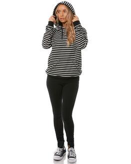 BLACK STRIPE WOMENS CLOTHING O'NEILL JUMPERS - 4521503BSTR