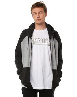 GREY HEATHER MENS CLOTHING ZOO YORK JUMPERS - ZY-MFA8123GRYH