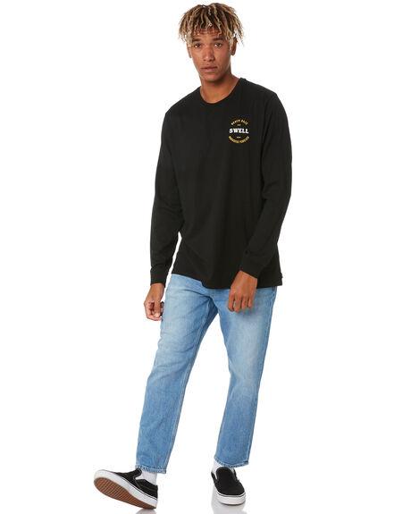BLACK MENS CLOTHING SWELL TEES - S5211103BLACK