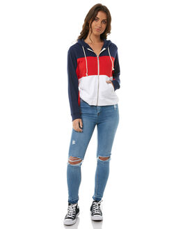 RED WHITE WOMENS CLOTHING LEVI'S JUMPERS - 39416-0000REDW