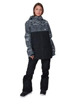 BLACK MUD PRINT BOARDSPORTS SNOW DC SHOES WOMENS - EDJTJ03044-KVJ6