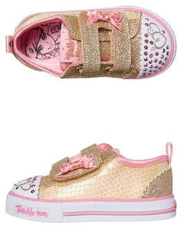 GOLD PINK KIDS TODDLER GIRLS SKECHERS FOOTWEAR - 10764NGDPK