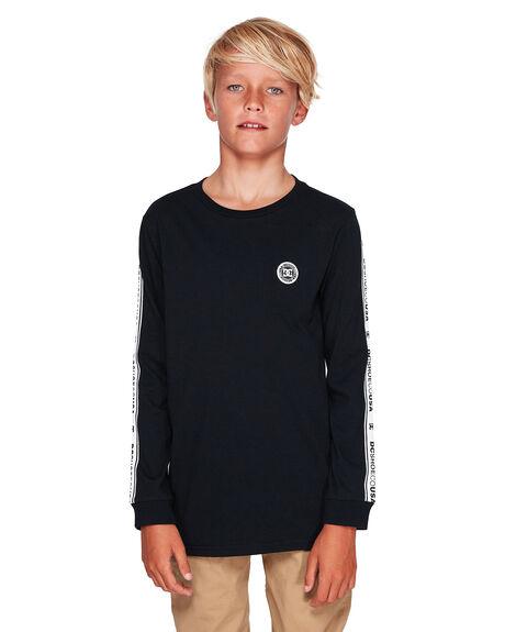 BLACK KIDS BOYS DC SHOES TOPS - UDBZT03215-KVJ0